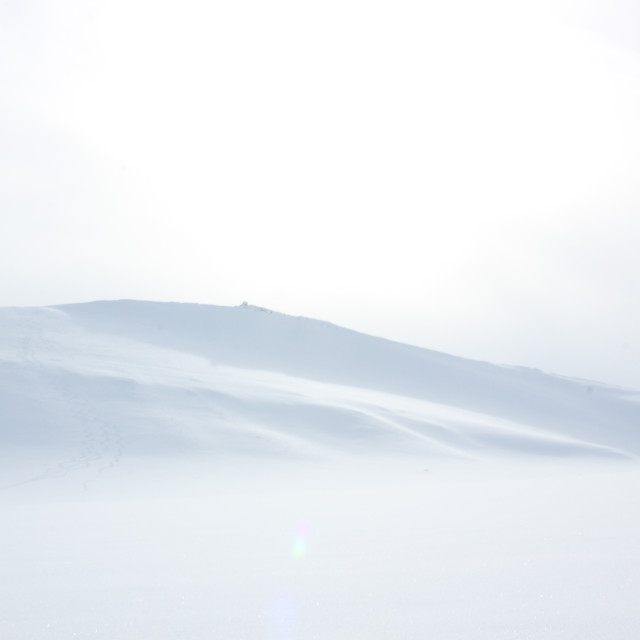 """Snowscape in Svalbard"" stock image"