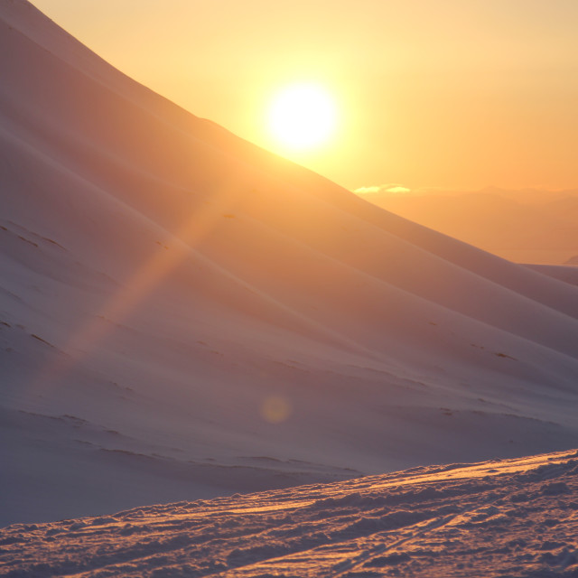 """Sunset in the Arctic"" stock image"