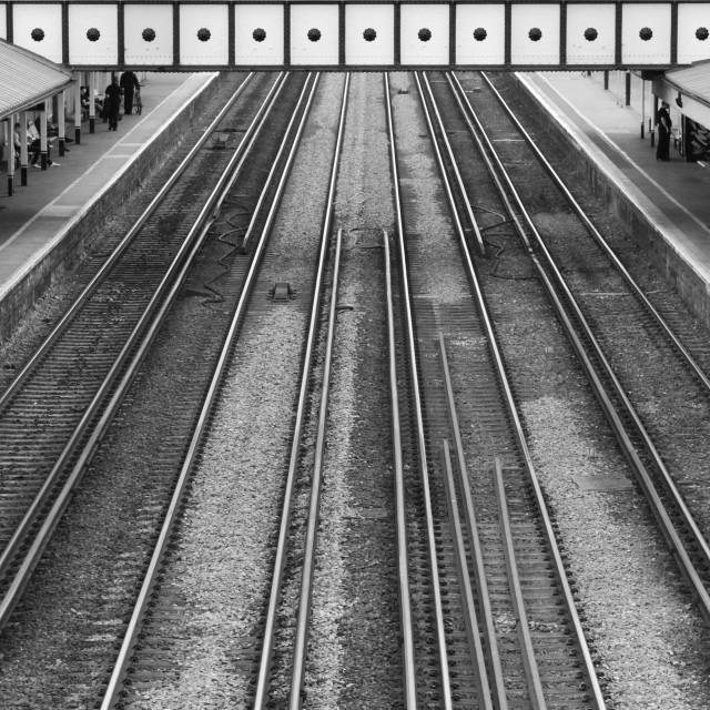 """Train Line Symmetry"" stock image"