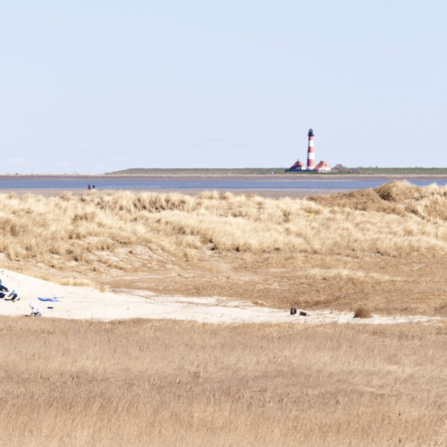 """Lighthouse Westerhever, Germany"" stock image"
