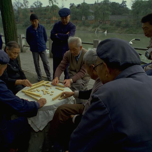 """""""Mahjong in Guangzhou"""" stock image"""