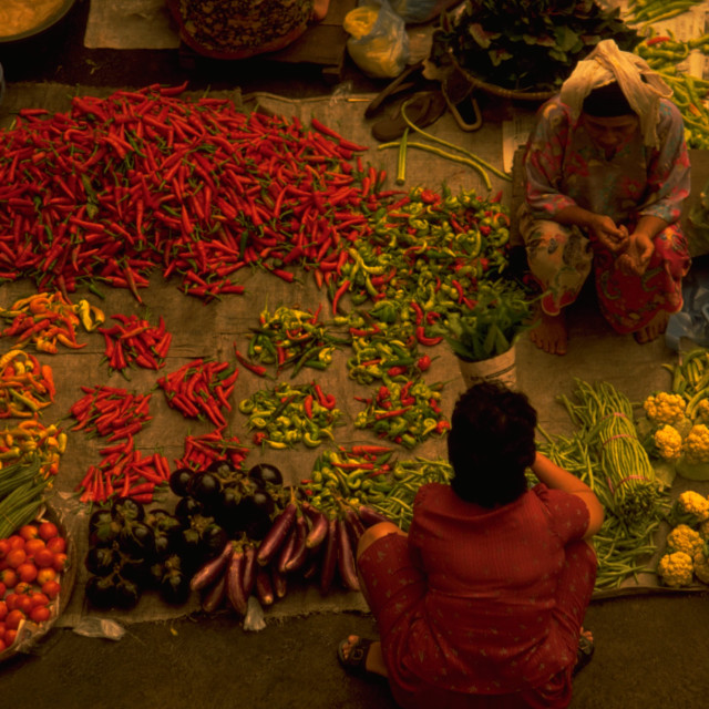 """Vegetable Market in Malaysia"" stock image"