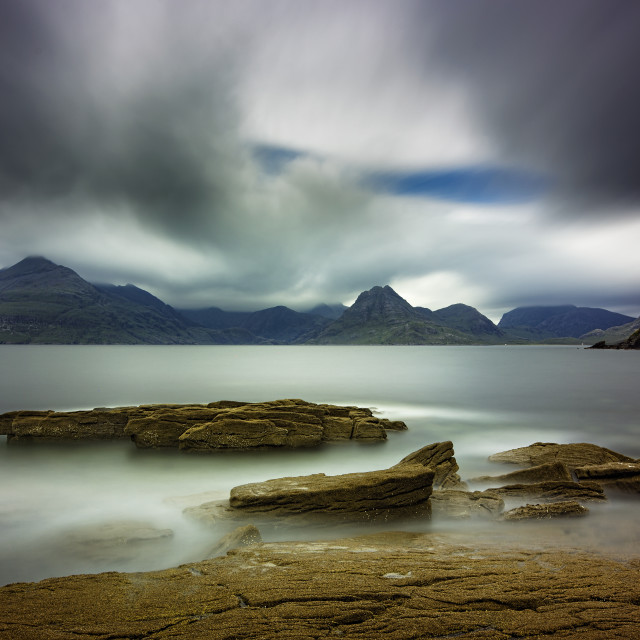 """Black Cuillins from Elgol on the Isle of Skye"" stock image"