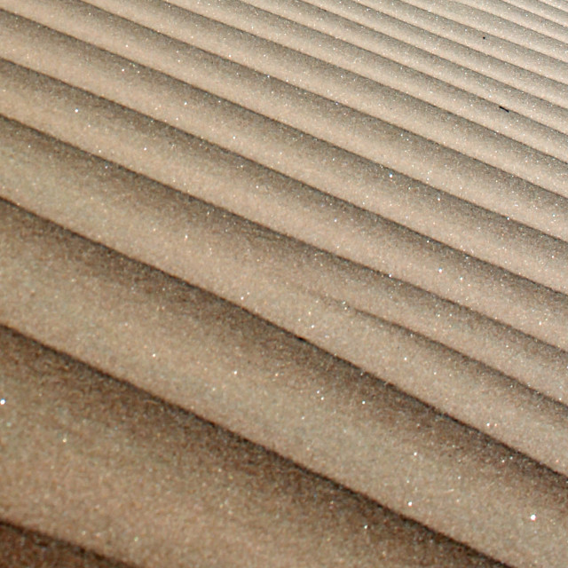 """Patterns in the sand"" stock image"