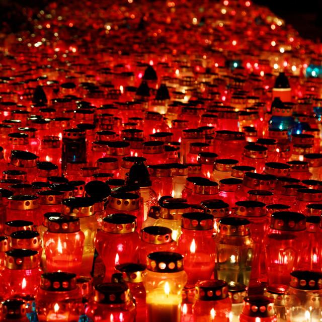 """""""Burning candles"""" stock image"""