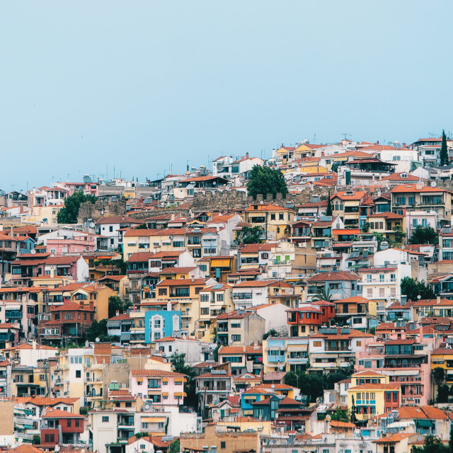 """""""Aerial panoramic view of the Thessaloniki city"""" stock image"""