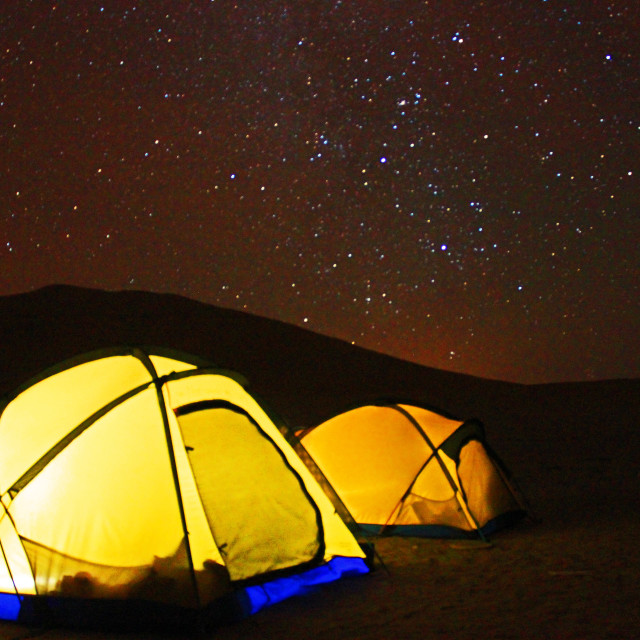 """Tents and stars"" stock image"