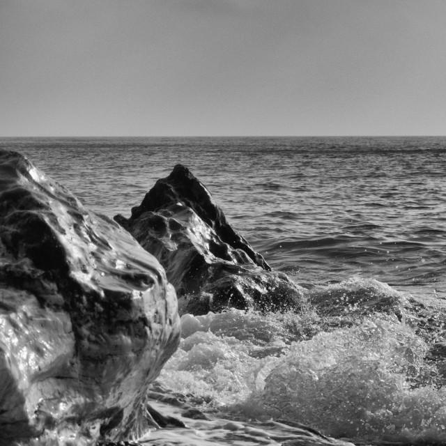 """""""Wet rocks at Eype."""" stock image"""