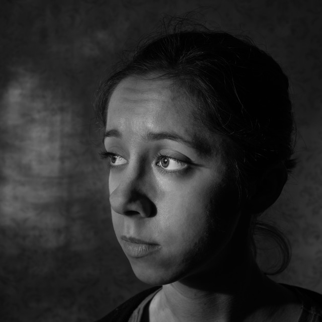 """""""portrait of young sad woman"""" stock image"""