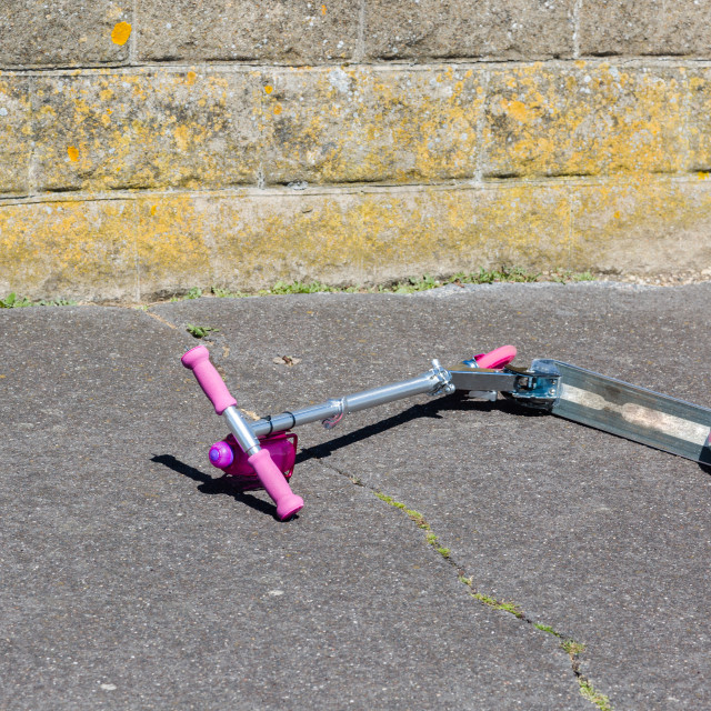 """""""Fallen scooter"""" stock image"""