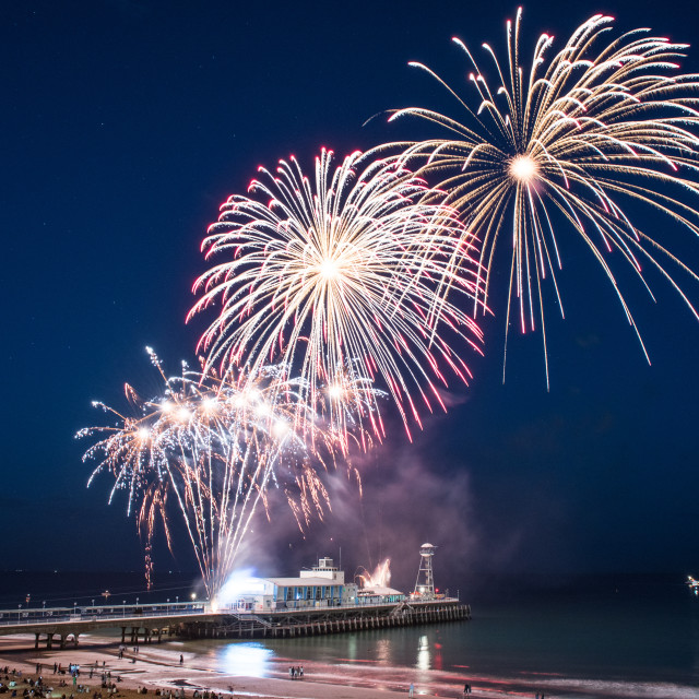 """Bournemouth Fireworks, Summer display"" stock image"