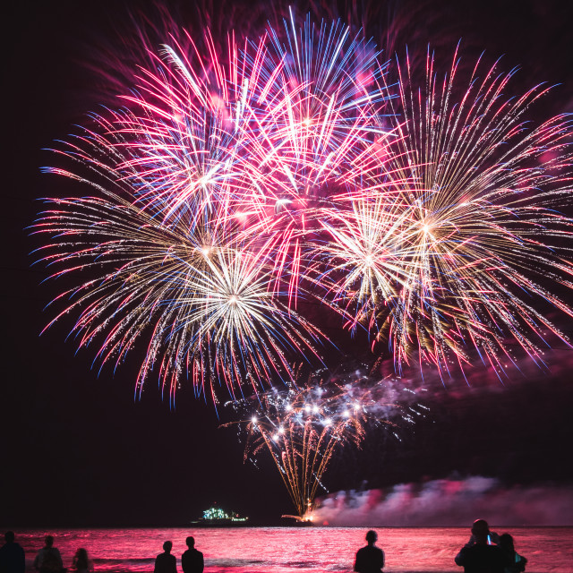 """Fireworks Bournemouth, Air festival display"" stock image"