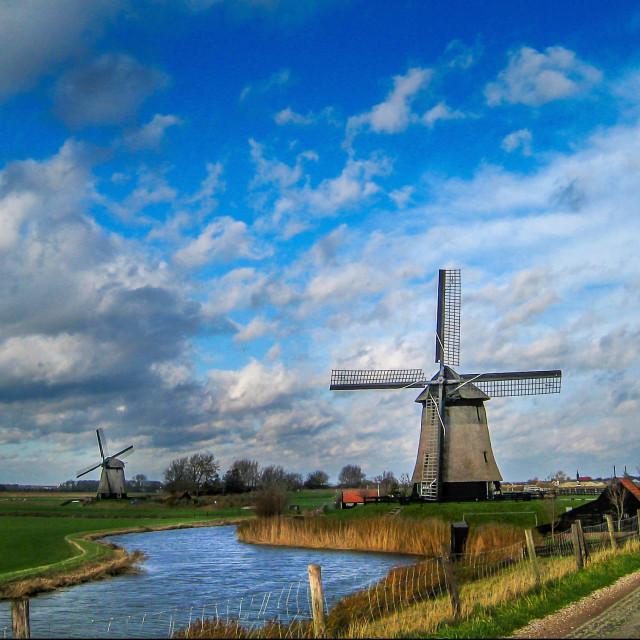 """Dutch mill"" stock image"