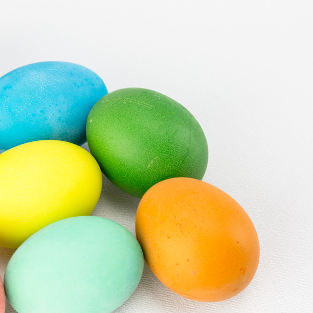 """Multicolour Easter eggs"" stock image"