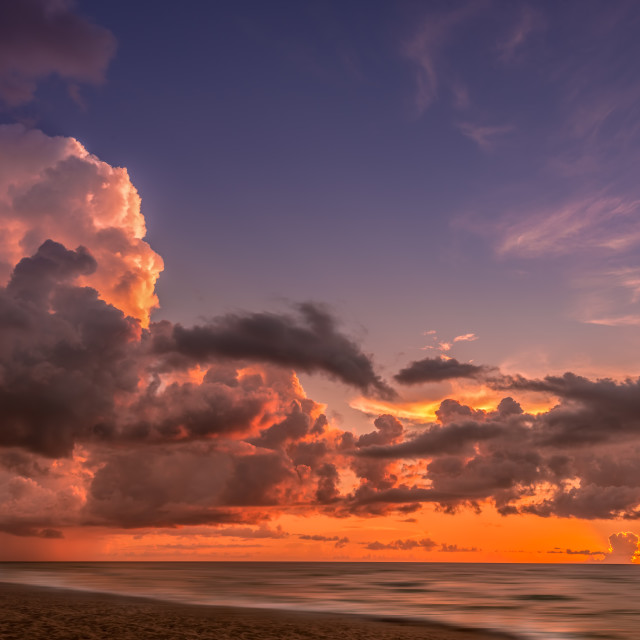 """Miami South Beach sunrise"" stock image"