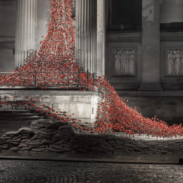 """""""Weeping Window at St Georges Hall Liverpool"""" stock image"""