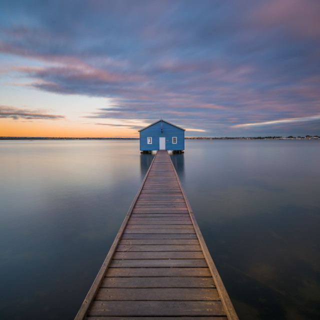 """Crawley Boat Shed"" stock image"