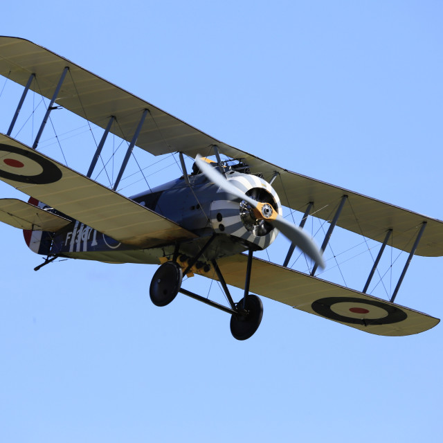 """Sopwith Snipe on finals"" stock image"