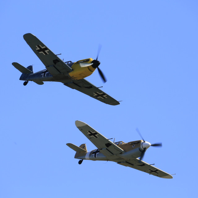 """Hispano Buchons in Formation"" stock image"