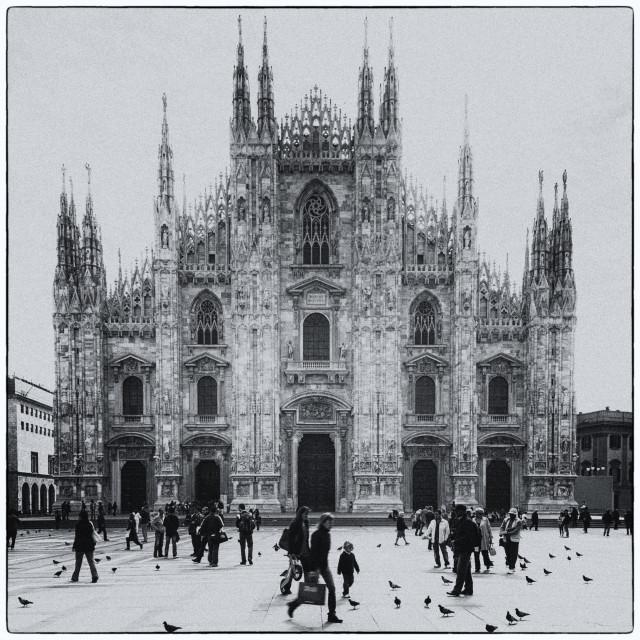 """""""Duomo di Milano in Black and White"""" stock image"""