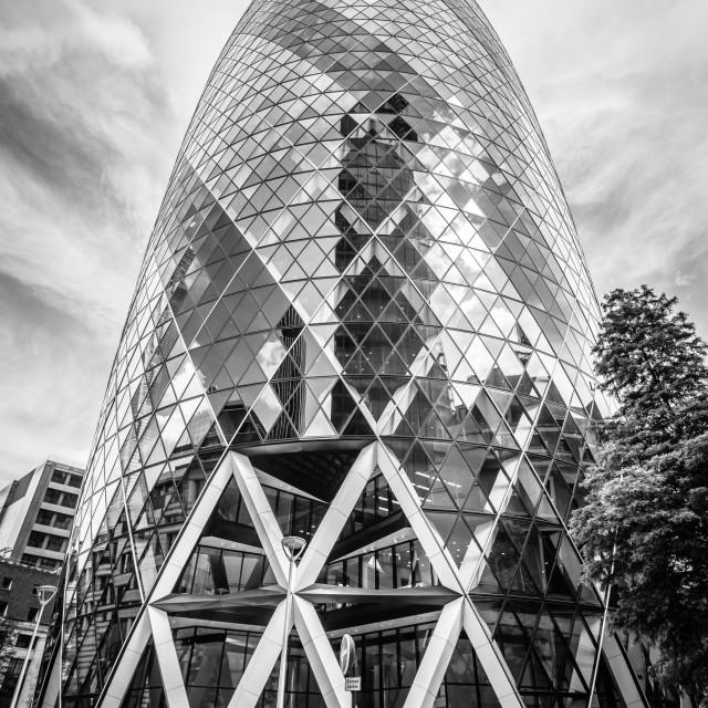 """Gherkin Tower in London"" stock image"