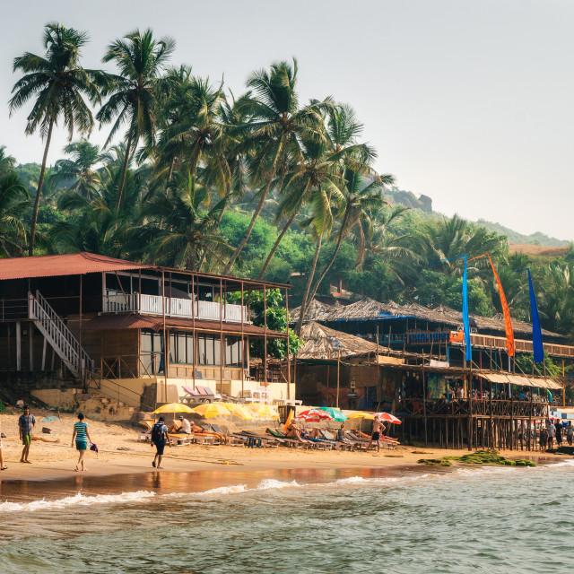 """Anjuna Beach in North Goa, India"" stock image"