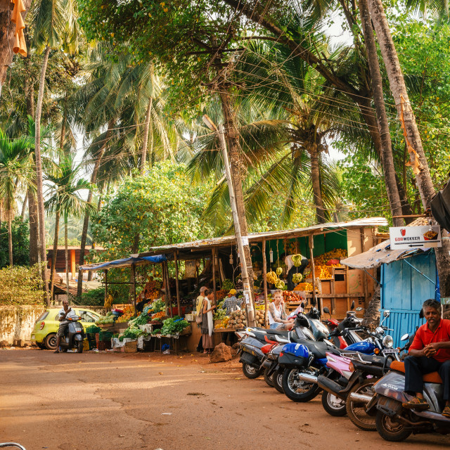 """Juice Centre in Chapora. One of the most famous places of Goa."" stock image"