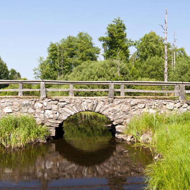 """""""Bridge in Sweden"""" stock image"""