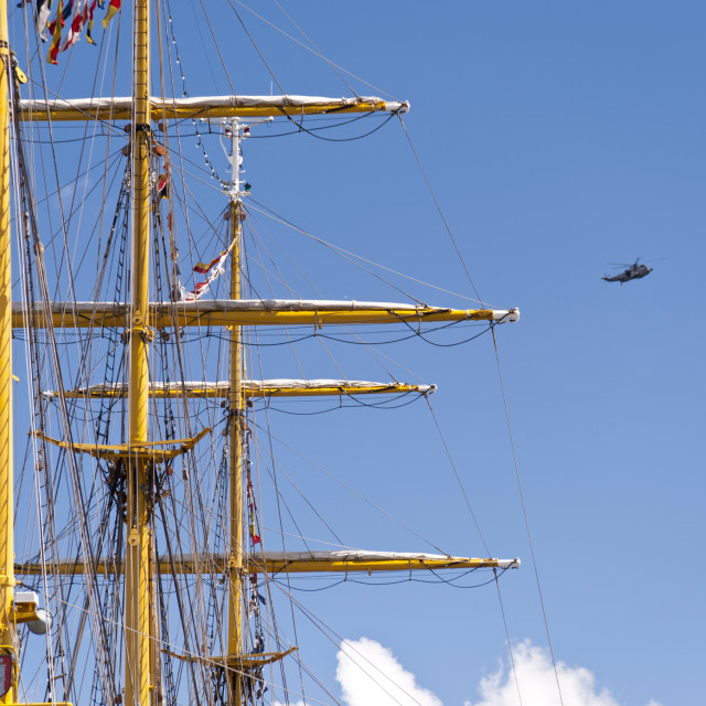 """""""Masts of a Tall Ship"""" stock image"""