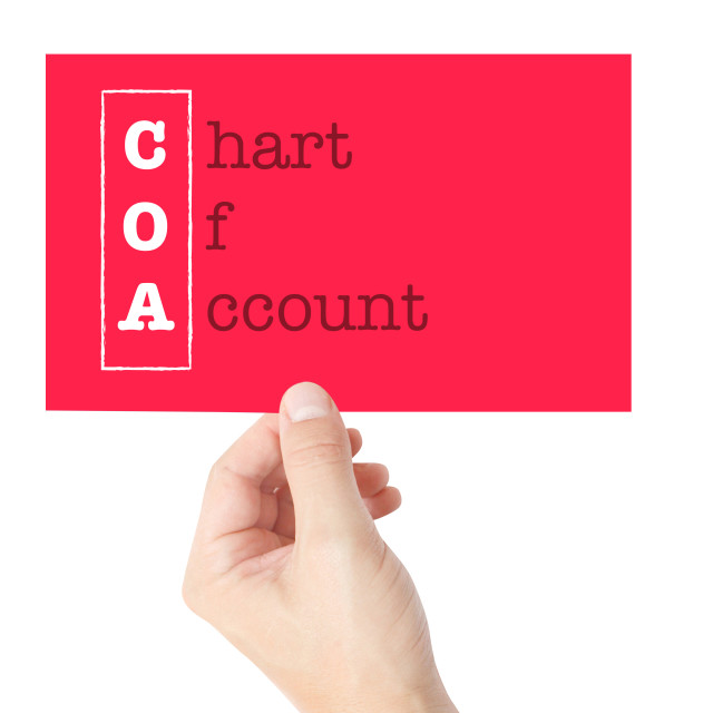 """Chart Of Account"" stock image"