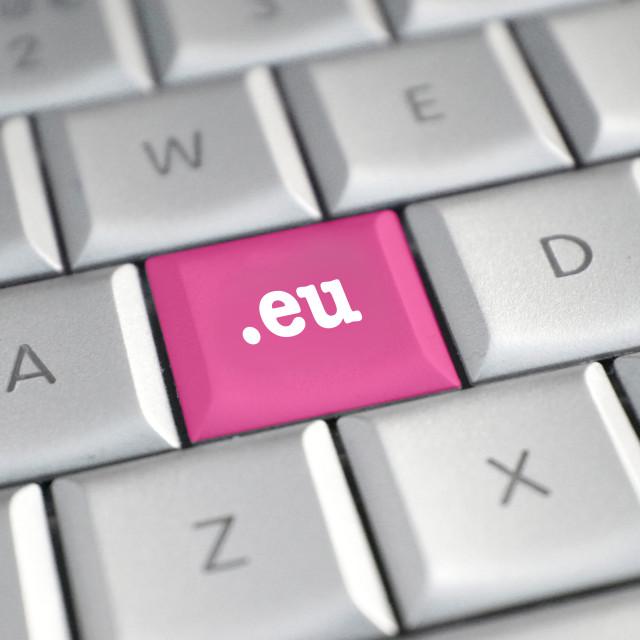"""The .eu domain name"" stock image"