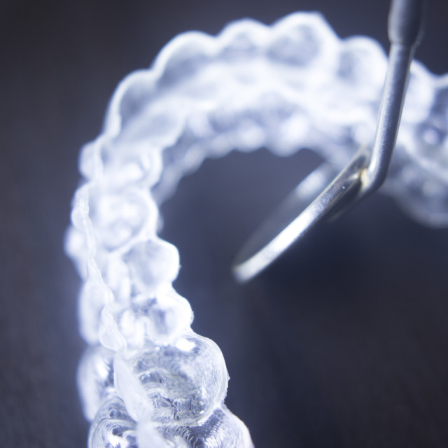 """Invisible teeth aligners"" stock image"