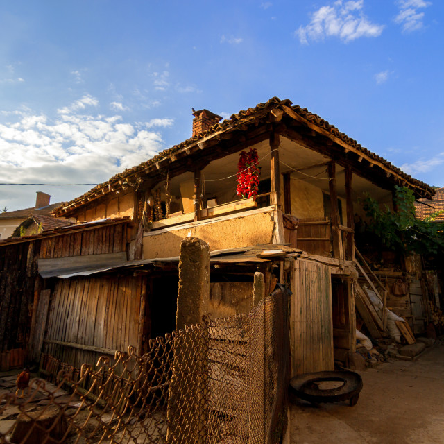 """""""Old clay house"""" stock image"""