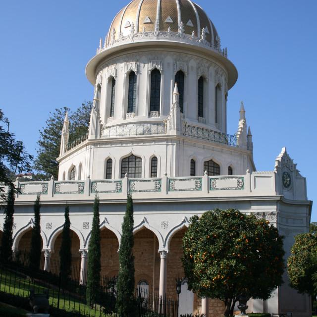 """Shrine of the Bab, Haifa, Israel"" stock image"
