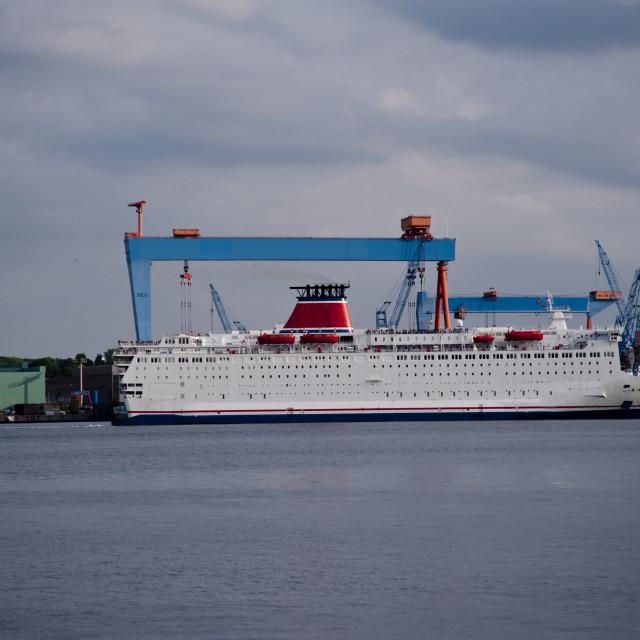 """""""In the Port of Kiel"""" stock image"""