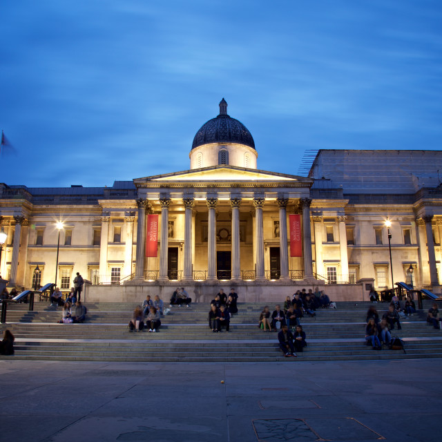 """The National Gallery in London"" stock image"