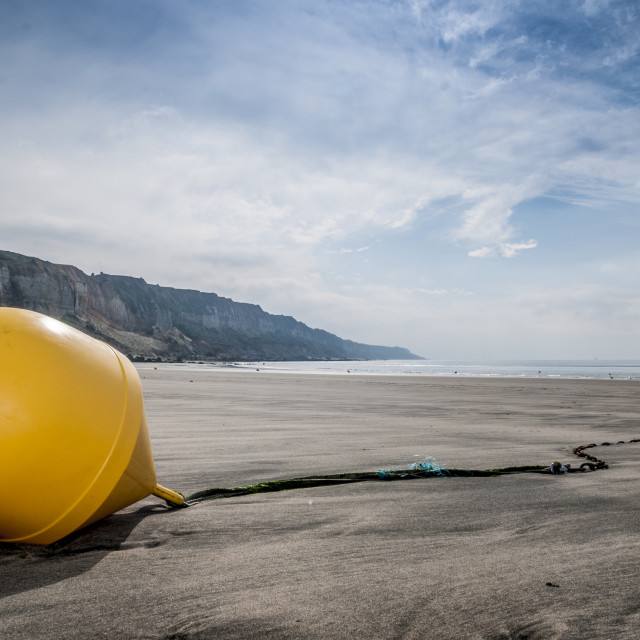 """The yellow buoy I"" stock image"