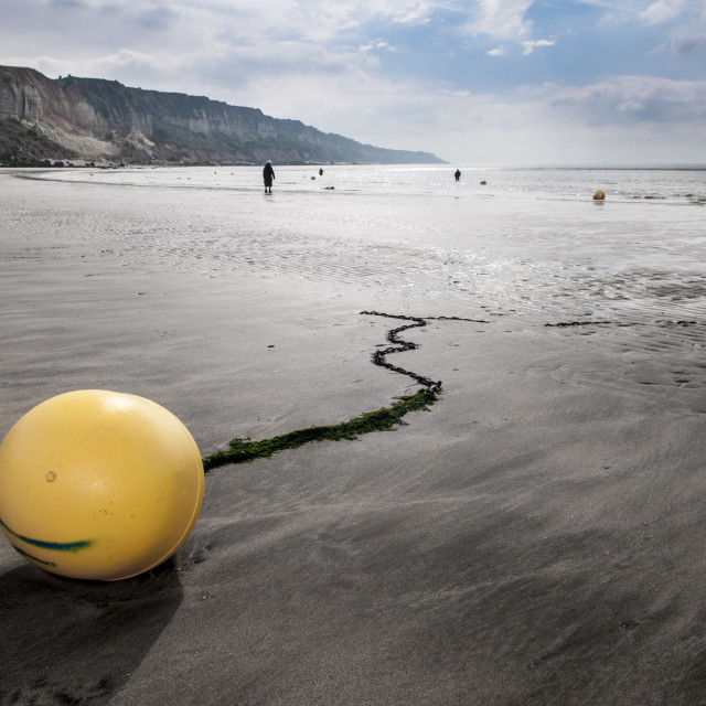 """The yellow buoy II"" stock image"