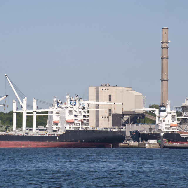 """Port of Kiel"" stock image"