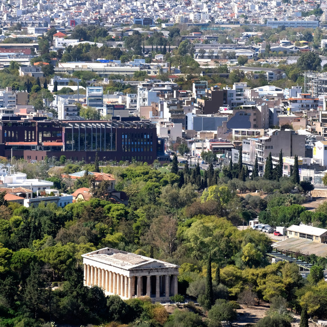 """""""Temple of Hephaestus and Athens"""" stock image"""