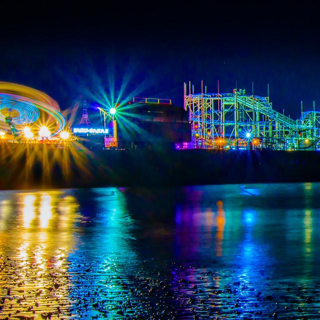 """""""Clacton Pier Fun And Colour"""" stock image"""