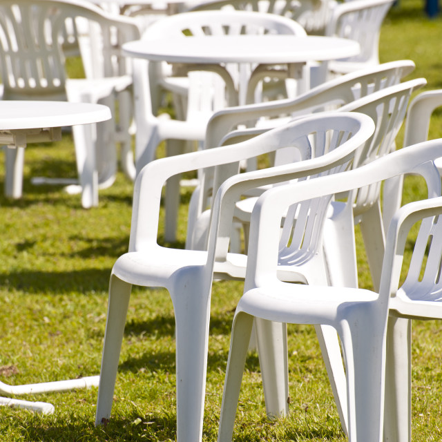 """""""Garden Chairs"""" stock image"""