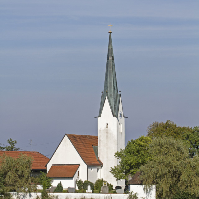 """""""St. Peter and Paul in Kirchbichl"""" stock image"""