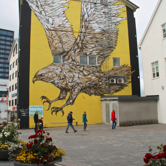 """Streetart in Bodø"" stock image"