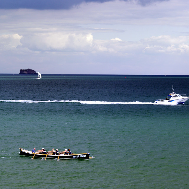 """3 Way Boat Race"" stock image"