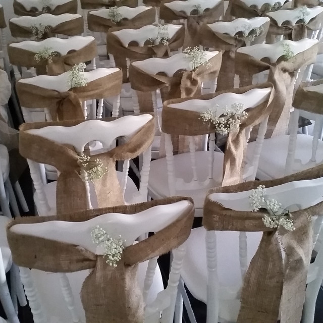 """Wedding chairs"" stock image"