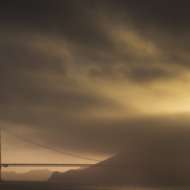 """Golden Gate at sunset"" stock image"