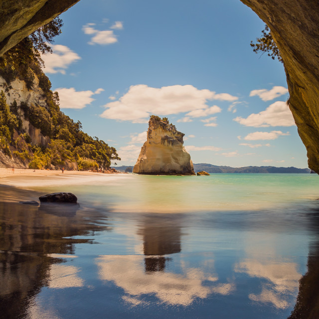 """The Cathedral Cove, Coromandel NZ"" stock image"