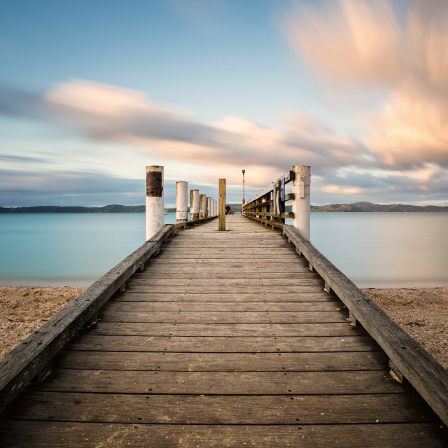 """A clear day at Maretai bay East Auckland, NZ"" stock image"