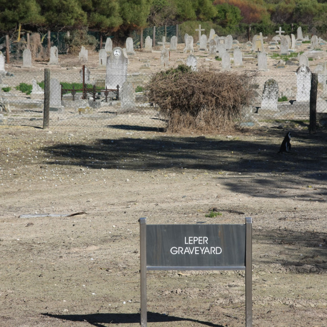 """Leper Graveyard"" stock image"